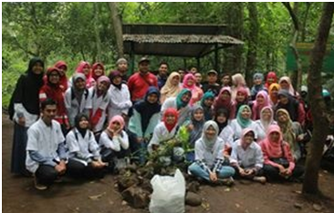 Mahasiswa UIN  WALISONGO Explorasi  SDA  di Cagar Alam Pagerwunung Darupono