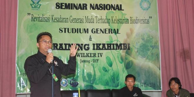Sadarkan Generasi Muda Pentingnya Biodiversitas, HMJ Biologi Adakan Seminar Nasional